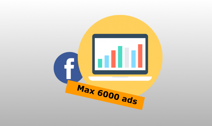 Max 6000 ads reached facebook