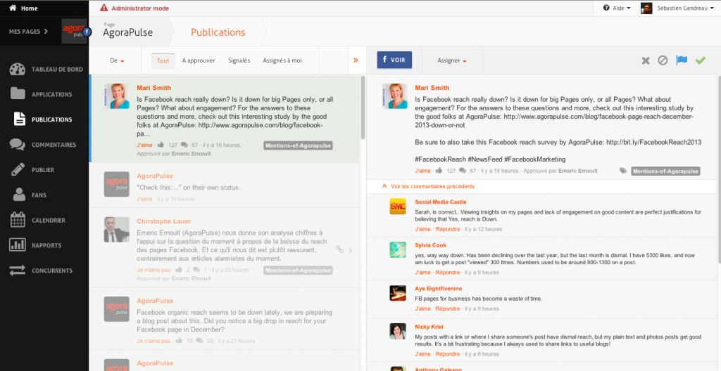 Agorapulse does organization better than any other social media tool. (Source: agorapulse.com)