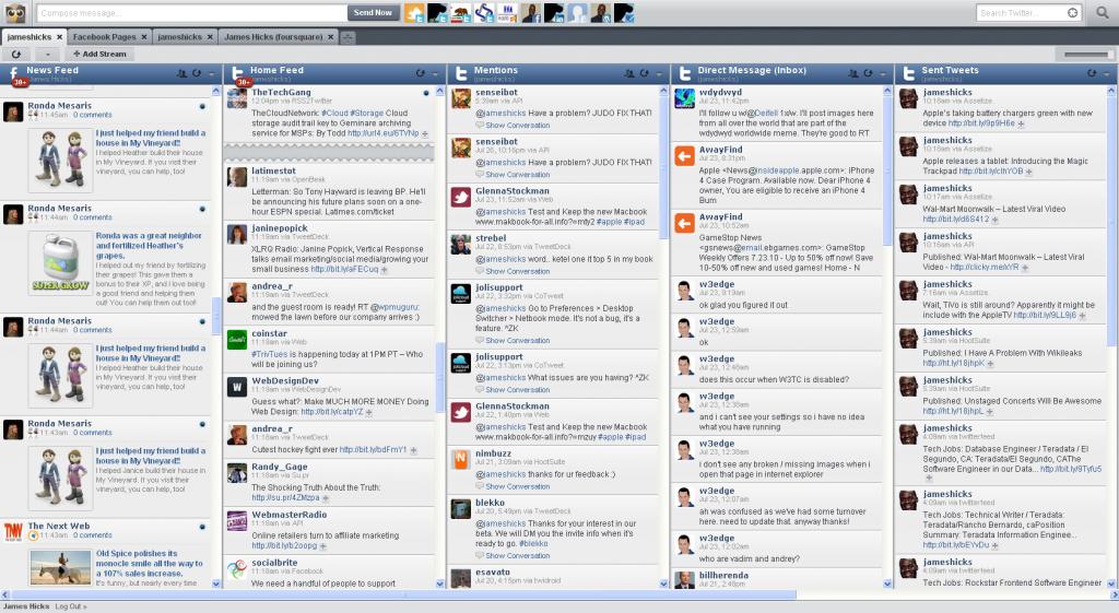 Hootsuite offers a wide range of social media but lacks organization. (Source: hootsuite.com)