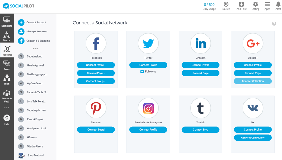 Socialpilot seems to be more advanced than most of its competitors. (Source: socialpilot.com)