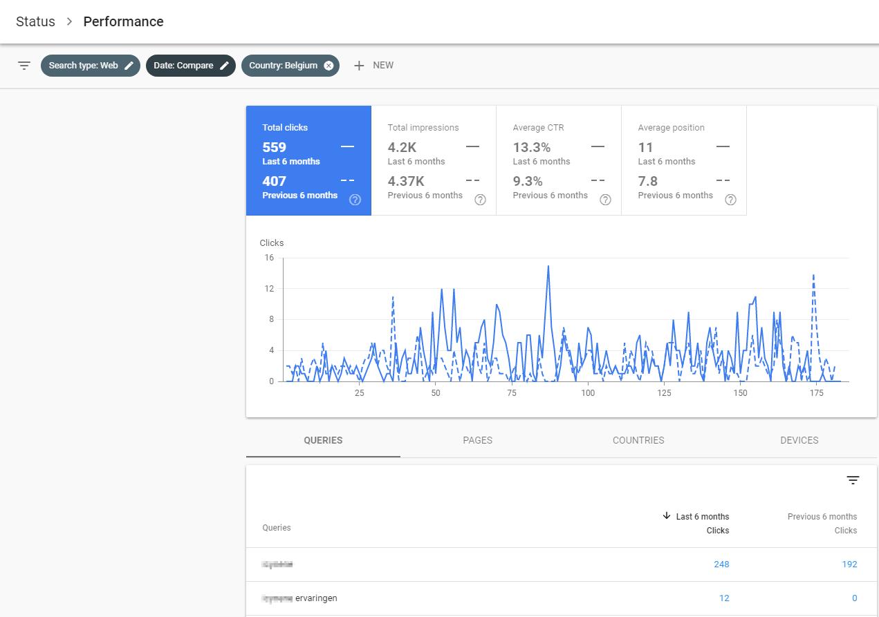 Google Search Results Compare View